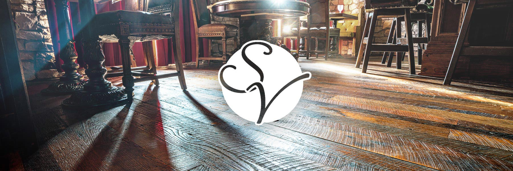 southern-vintage-logo-over-custom-reclaimed-hardwood-floor-in-resturaunt-2